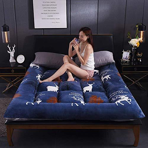 zyl Colchón japonés Suave colchón de Tatami Grueso y Plegable Cojín de Dormir portátil Ultra Suave y Transpirable para Camping Doble Individual (Color: G Tamaño: Completo: 120x200cm (47x79 pulga