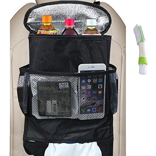 FineGood-Universele autostoel achterzijde, grote capaciteit, meerdere vakken, speelruimte, opbergdoos voor reizen, snacks, drankweefsel, cd's, tijdschriften, afval (warmte-bewaring)