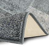 Teppichläufer Monsano   Patchwork Muster im Vintage Look   viele Größen   rutschfester Teppich Läufer für Flur, Küche, Schlafzimmer   Niederflor Flurläufer   anthrazit Breite 80 cm x Länge 300 cm - 5