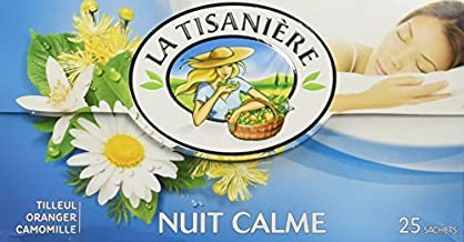 La Tisaniere French Tisane – 25 Counts Nuit Calme Tranquil night by La Tisaniere Estimated Price : £ 7,50