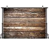 LYWYGG 7x5FT Photographie Toile de Fond Marron Bois Décors Photographie Plancher en Bois Mur Mur Fond Photographes CP-172