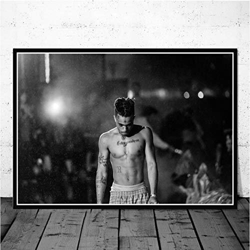 PHhomedecor Obra De Arte En La Pared HD Impresiones En Lienzo Cuadros De Pintura Xxxtentacion Rapper Nordic Modern Poster para La Sala De Estar Decoración del Hogar - Sin Marco 40X50Cm Phr-941