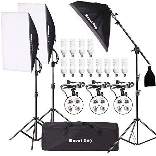 MOUNTDOG 2400W Softbox Photography Lighting Kit 20'x 28'...