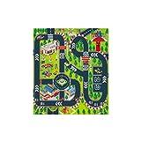 CAOQAO Tapis De Jeu - Trafic - Tapis Circuit,pour Enfants Circuit De Voitures dans La Ville,Jeu Fun Baby Crawling Mat...
