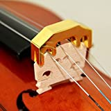 MUSICAL STRING VIOLIN METAL MUTE BRASS WITH GOLDEN COAT, HIGH MUTING