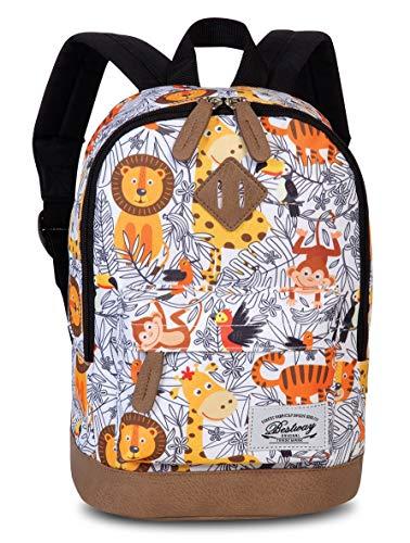 Fabrizio BestWay Campus Kinderrucksack Backpack Weiss/Orange