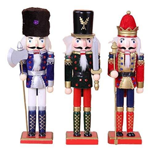 qnmbdgm Decoratie Kerst Ornamenten Notenkraker Poppen Europese en Amerikaanse Stijl Kerstmis Decoraties Walnoot Soldaat Pop