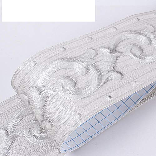Borde de papel pintado resistentes al agua Cortina verde Cenefa autoadhesiva para decoración para la decoración del baño de la cocina 10X900CM