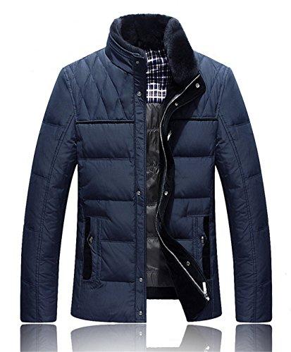 BININBOX® Veste Les Hommes de Loisirs Automne et l'hiver col de la Veste des Hommes Veste (Français L/Fabrication GR.2XL, Bleu)
