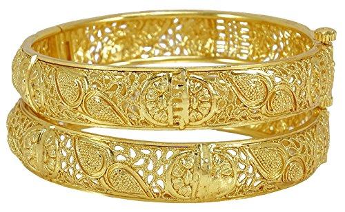 Banithani 18K Gold ueberzog traditionelle Hochzeits-Schrauben-Verschluss Kada-Armband-Nachahmung Jewelry-2 * 4
