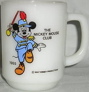 Vintage MICKEY MOUSE CLUB 1955 Collector's Mug (Pepsi/Milk Glass)