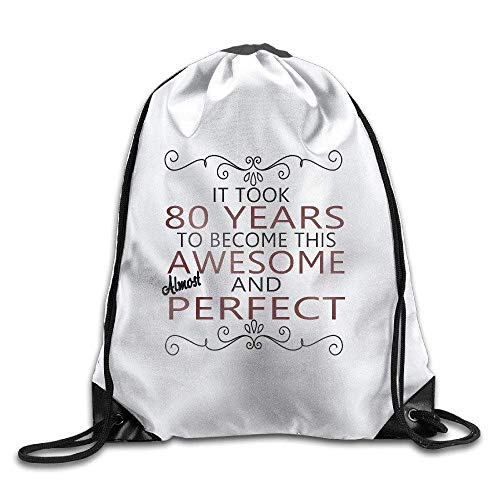 Etryrt Mochilas/Bolsas de Gimnasia,Bolsas de Cuerdas, 80th Years Old Gift,Ladies Drawstring Bags,Bundle Pack,Shoulder Bags for Men Women