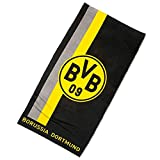 Borussia Dortmund BVB-Duschtuch mit Logo im Streifenmuster one Size