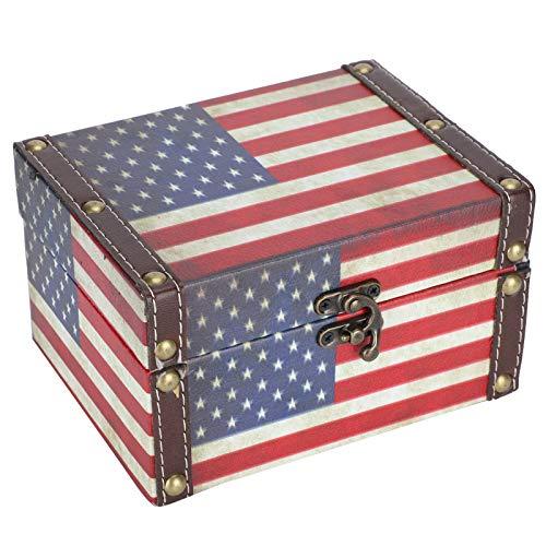 Joyero de madera, cofre del tesoro vintage, joyero clásico, caja de almacenamiento de regalo, estuche, organizador antiguo, estuche para pulseras, pendientes, anillos, collares, broches, día de San Va