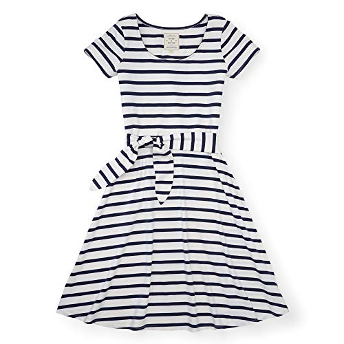 Hope & Henry Womens' Navy and White Striped Knit Dress
