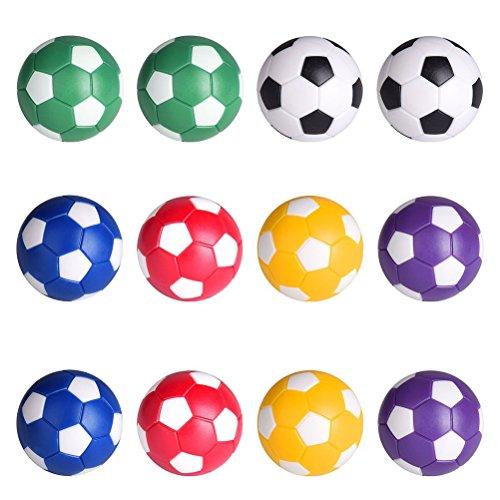 LIOOBO 6 Stücke Kickerbälle Tischfußball Kugeln Foosballs Ersatzkugeln Mini Tabletop Fußball Spielbälle