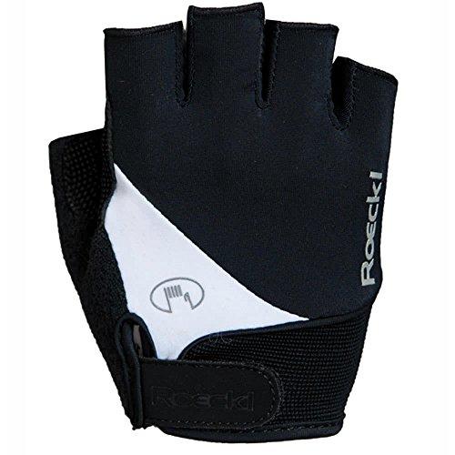 Roeckl Herren Napoli Handschuhe, schwarz/Weiß, 6