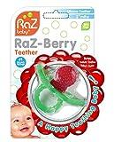 RaZ- Berry Jouet de Dentition en Silicone pour Bébé -Rouge