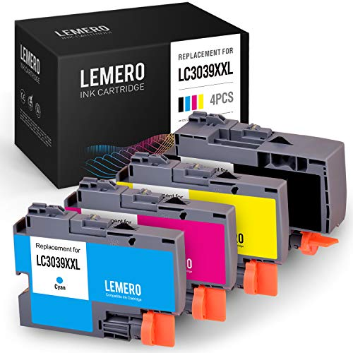 Price comparison product image LEMERO Compatible Ink Cartridge Replacement for Brother LC3039 LC3039XXL for Brother MFC-J6945DW MFC-J5845DW MFC-J5945DW MFC-J6545DW Printer (1 Black,  1 Cyan,  1 Magenta,  1 Yellow,  4 Pack)