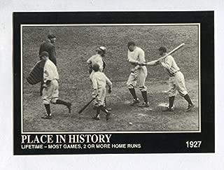 "Babe Ruth ベーブ・ルース 1992 Megacards #48 Lou Gehrig""シーズン59号ホームラン 1927年"""