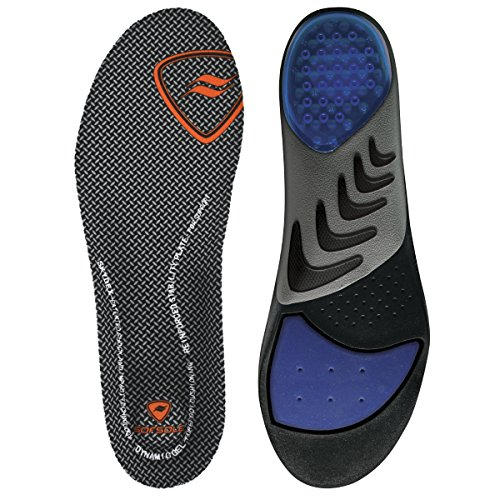 Sof Sole Insoles Men's AIRR Orthotic Support Full-Length Gel Shoe Insert, Men's 11-12.5