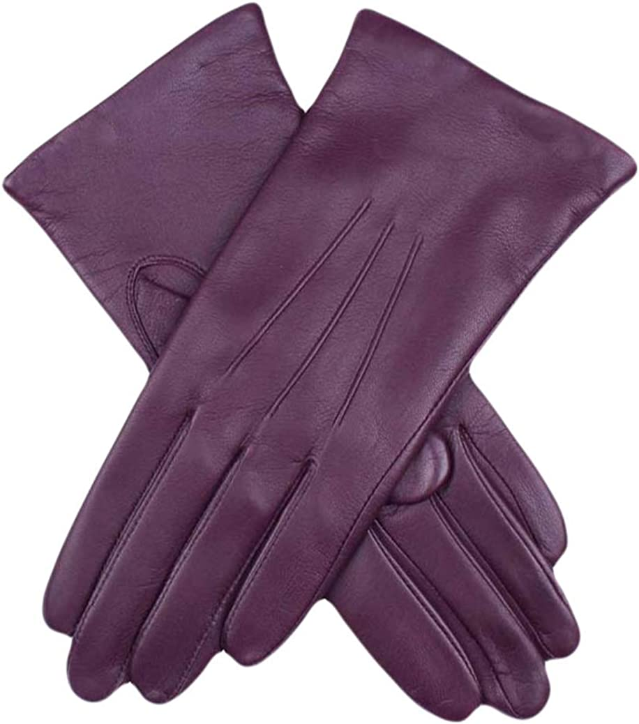 Dents Womens Emma Classic Hairsheep Leather Gloves - Thistle