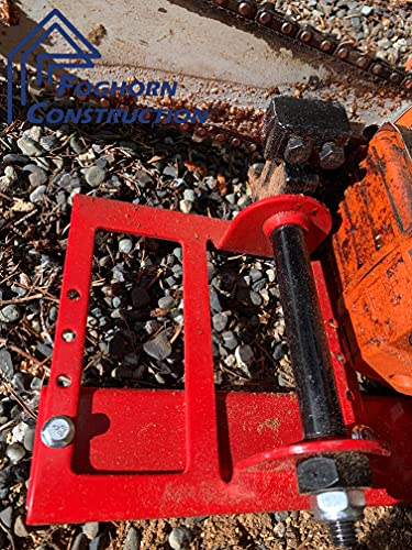Foghorn Construction Chainsaw Mill, Makes Useable Lumber from Logs, Sawmill Rides on Guide Board to Cut Any Desired Width Board, Mini milling Attachment