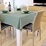 Casaviva Tovaglia rettangolare in Twill di cotone alta qualità, Elegante e moderna, feste e banchetti (Verde Pastello, 180)