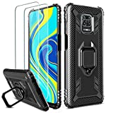 Milomdoi [Case with 2 pack] Cover for Xiaomi Redmi Note 9S