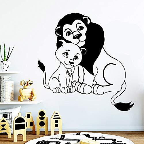 fdgdfgd Löwe und Jungtier Wandaufkleber Tier Zoo Dschungel Wild Wandaufkleber Kinderzimmer Kinderzimmer Dekoration Vinyl Art Wallpaper
