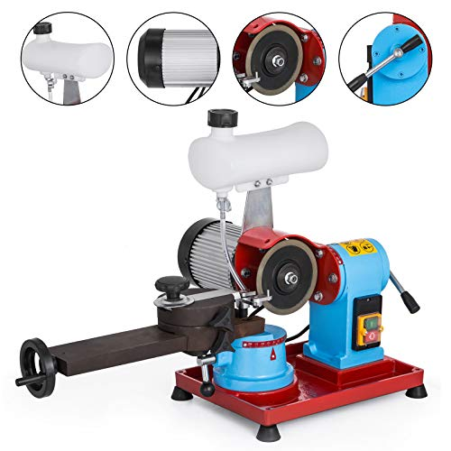 VEVOR Round Circular Saw Blade Grinder Machine 110V 370W Rotary Angle Mill Sharpener 125mm Electric Saw Blade Sharpener Machine for Sharpening Carbide Tipped Saw Blades (W/Water Tank)