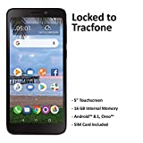 TracFone Carrier-Locked TCL A1 4G LTE Prepaid Smartphone - Black - 16GB - Sim Card Included - CDMA