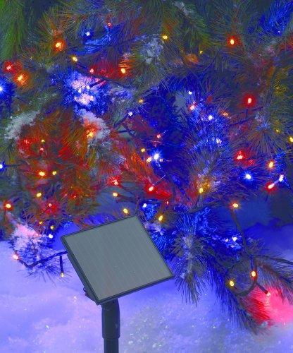 E=M6 5SOL101MC Guirlande Solaire 50 LED, Plastique, Multicolore