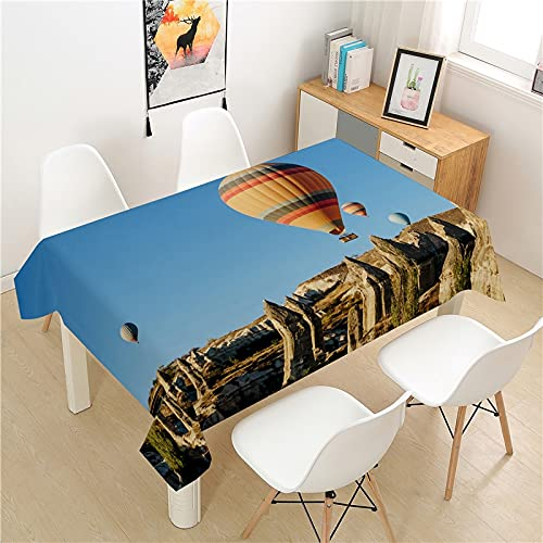XXDD Hot air balloon pattern tablecloth picnic table rectangular table cover simple style home table decoration tablecloth A4 135X135CM
