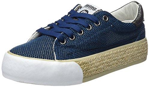 MTNG Akira, Zapatillas de Deporte Mujer, Azul (Mesh Satin Marino), 36 EU