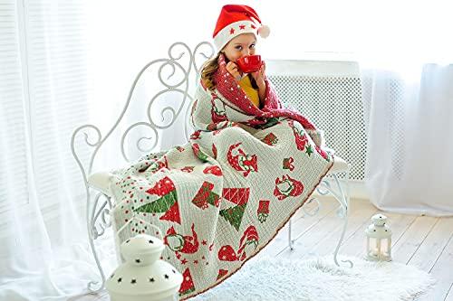 Manta Jacquard de lino para niños (Elfos)