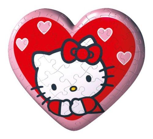 Ravensburger - Hello Kitty, Puzzleball a Forma di Cuore da 60 Pezzi