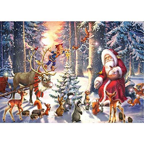 XIANGBEI Merry Christmas DIY 5D Full Diamond Painting Embroidery Cross Stitch DIY Kit Rhinestone Home Decoration Full Diamond Set Crystal Embroidery Diamond Painting Picture Home Wall Decoration