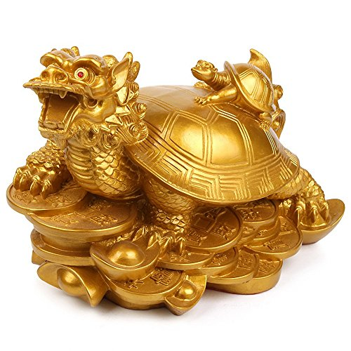 BOYULL Feng Shui Wealth Prosperity Dragon Turtle Statue...