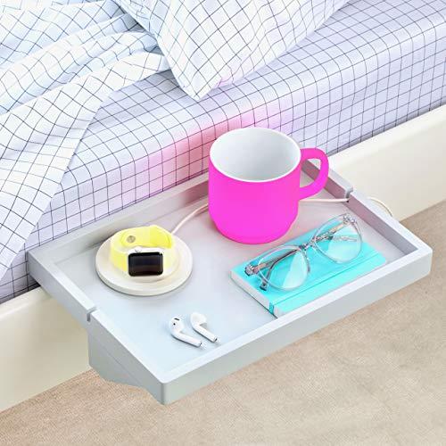 BedShelfie Das Original Nachttisch Regal - 3 Farben / 2 Größen - GESEHEN AUF Business-Insider und Kickstarter (Regulär Größe, Bambus in Grau)
