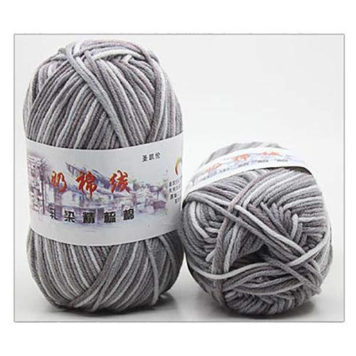 LY Ovillo de lana para tejer a mano con hilo de lana para bebé de 50 g