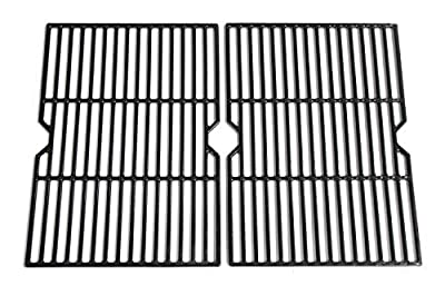 Hongso PCF652 (2-Pack) Cast Iron Cooking Grid Replacement for Select Gas Grill Models by Charbroil, Coleman, CG-65P-CI, Set of 2