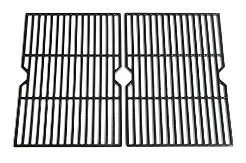 Hongso 18 1/4 Inch Porcelain Coated Cast Iron Grill Grate Cooking Grid Replacement for Charbroil 80005665, CG-65P-CI, Thermos, Uniflame, Master Forge Gas Grill, g515-00b5-w1, 2-Pack, (PCF652)