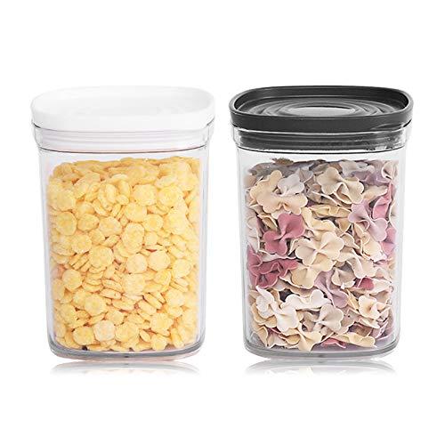 Mokinga Botes Cocina, Tanque De Almacenamiento De Plástico Transparente De 2 Piezas con Tapa, Caja De Almacenamiento De Grano Integral De Cocina de 520 ml para Harina y Cereales
