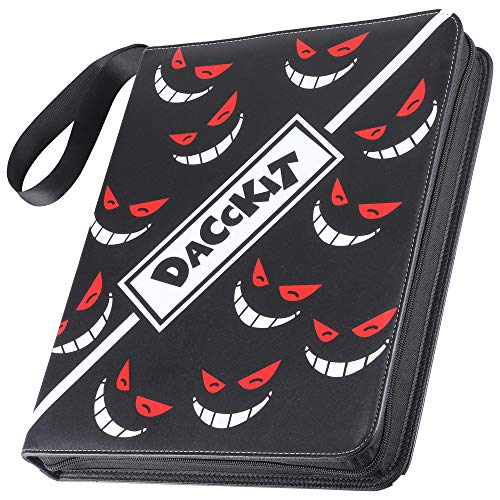 D DACCKIT 720 Pockets Binder for Pokemon Trading Cards, Card Holder Collectors Album with 40 Premium 9-Pocket Pages - Black & Smiley