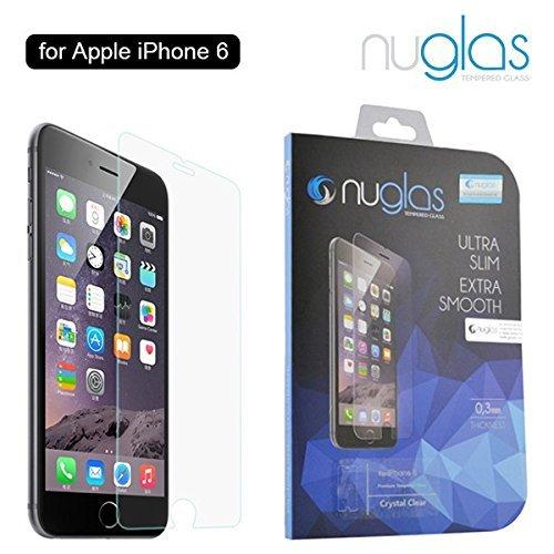 Nuglas iPhone 6 6s 4,7 Pollici Screen Saver, Pellicola salvaschermo in vetro temperato Pellicola temperata protezione in vetro protettivo iPhone temperato 9h In vetro trasparente ultra fine 0,3 mm