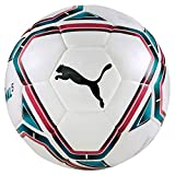 puma teamfinal 21.5 hybrid ball, pallone da calcio unisex-adult, white-rose red-ocean depths black, 5