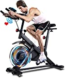 ANCHEER Indoor Exercise Bike Stationary, Indoor Cycling Bike with Comfortable Seat Cushion, Tablet...