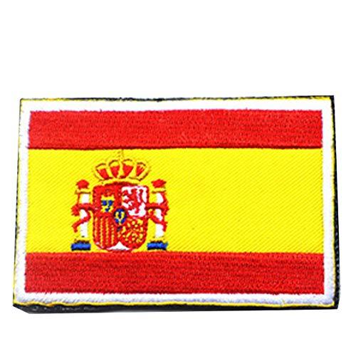 Zonfer Tácticas Bordado 3D De La Bandera De España del Brazal Militares Fuerzas Moral Especial Insignia Ropa De Camuflaje Al Aire Libre Mochila Patch Deportes