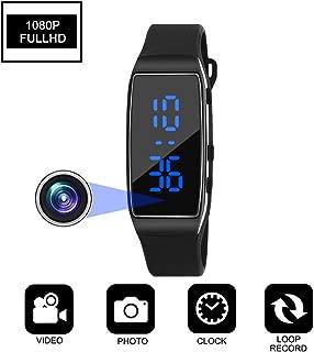 Hidden Camera HD 1080P Spy Camera Recording Loop Recording time Display Sports Bracelet Shielded Surveillance DVR Wristband Camera (Not Included TF Card)